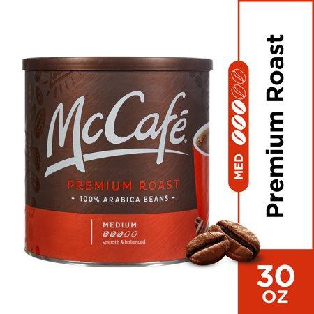 McCafe Premium Roast Medium Ground Coffee, Caffeinated, 30