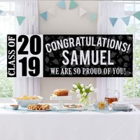 """Personalized Best in Class Graduation 72""""L x 24""""H Banner"""