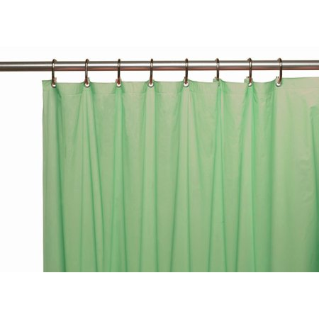 Venice Elegant Home Heavy Duty Vinyl Shower Curtain Liner With 12 Metal Grommets Jade