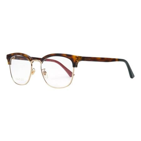 Gucci GG0409OK 004 Eyeglasses Havana Brown Gold Frame - Gucci Frame