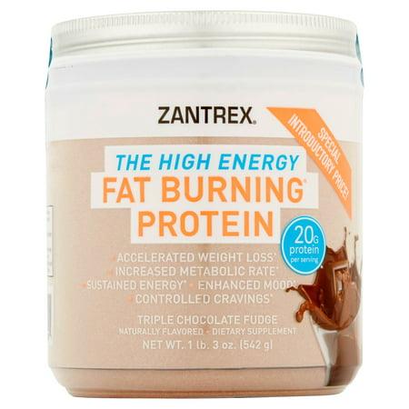 Zantrex The High Energy Triple Chocolate Fudge Fat Burning Protein  1 Lb 3 Oz