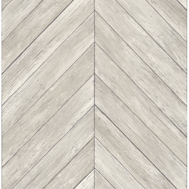 Brewster Parisian Dove Chevron Wood Wallpaper Walmart Com Walmart Com