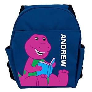Personalized Barney Reading Blue Backpack