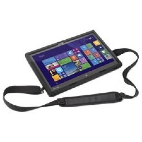 Toshiba Carrying Case for Tablet - Black - Shock Absorbing - Rubber - Hand Strap, Shoulder Strap