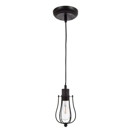 - SYLVANIA Lowell Cage Pendant Light, LED, Dimmable