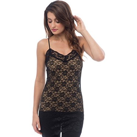 - Sheer Extra Long Lace Cami w/ Adjustable Straps â¦