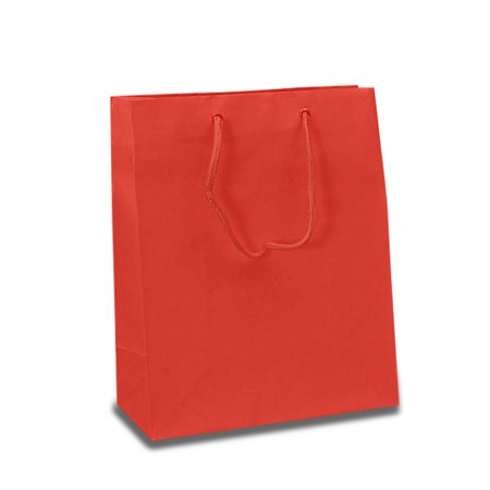 Matte Red Euro Gift Bags   Quantity: 100   Width: 6