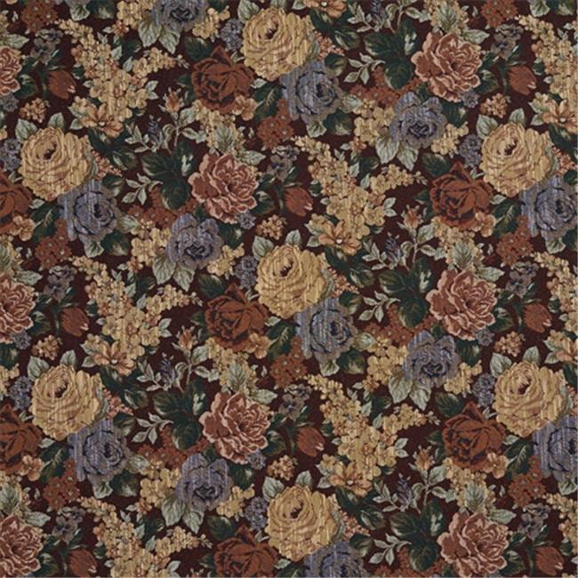 Designer Fabrics F924 54 in. Wide Red And Green, Floral Tapestry Upholstery Fabric