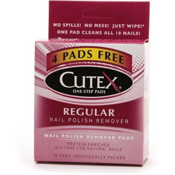 Cutex Nail Polish Remover Pads, Regular 10 ea - Walmart.com