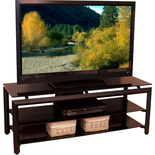 TechCraft TV Stand, Metal and Black Glass for TVs up to 52""