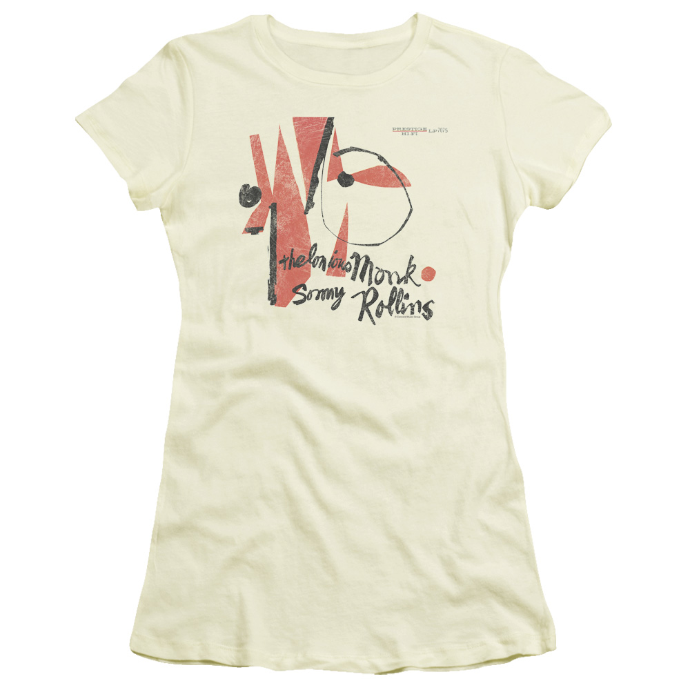 Trevco THELONIOUS MONK MONK SONNY ROLLINS Cream Juniors Female T-Shirt