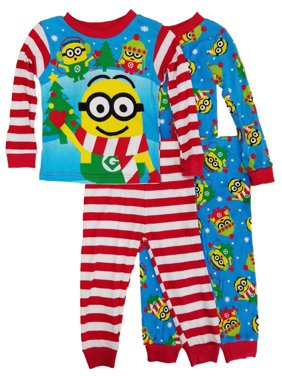 Despicable Me Toddler Boys 4-Piece Christmas Minions Sleepwear Pajama Sets 2T
