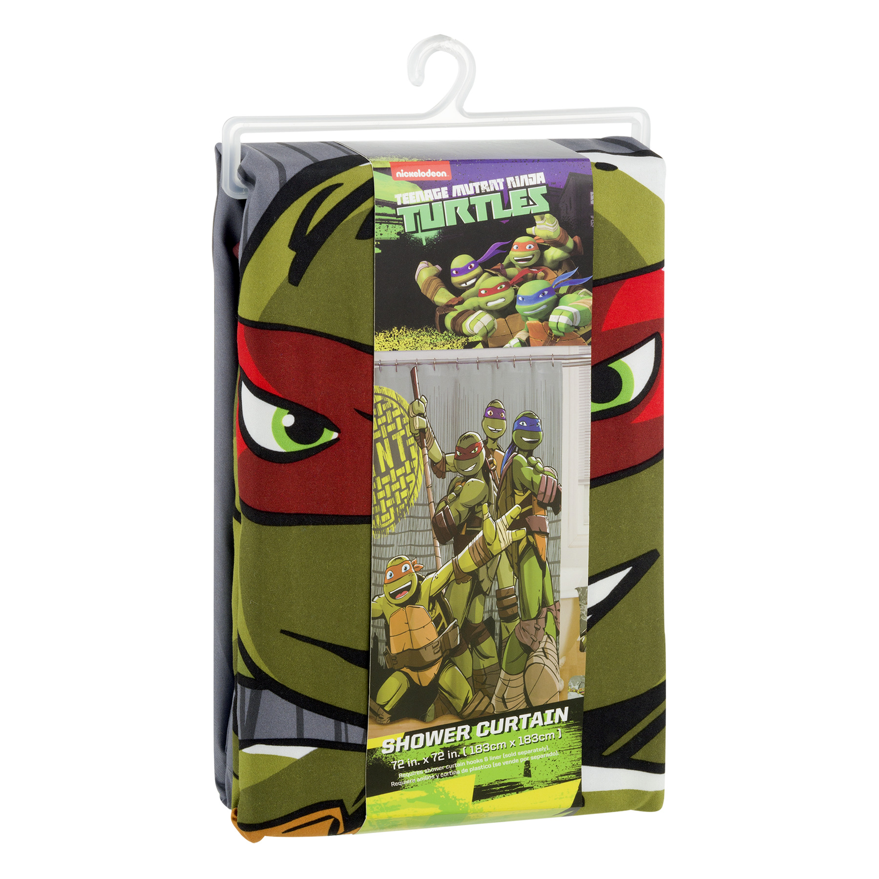 New In Box Teenage Mutant Ninja Turtles Shower Curtain; 72x72