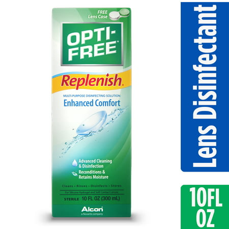 OPTI-FREE Replenish Multipurpose Contact Lens Disinfecting Solution, 10 Fl. - Halloween Contact Lenses Prescription-only