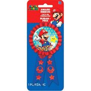 amscan Super Mario Brothers Confetti Pouch Award Ribbon, Party Favor