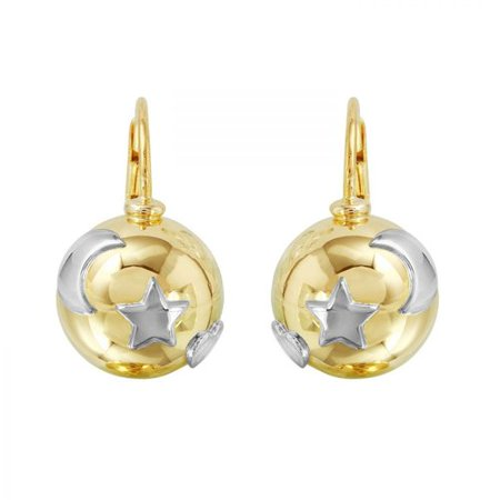 (Foreli 18k Two tone Gold Earrings)