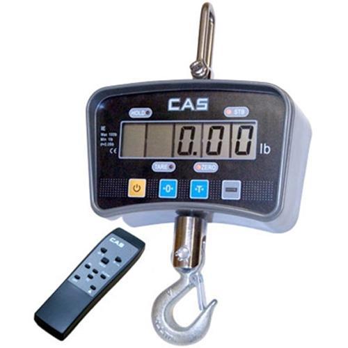 CAS IE-500C IE Series Economy Digital Crane Scale  500lb x 0 2 lb LCD