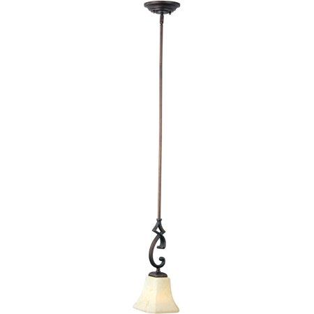 Mini Pendants 1 Light Bulb Fixture With Rustic Burnished Finish Iron Material Medium Bulbs 6 inch 100 Watts