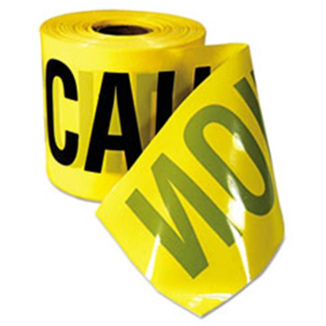 Empire 770201 Safety Barricade Caution Tape, 3 in. x 200 ft., Yellow With Black Print by Empire
