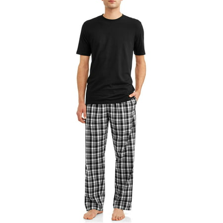 Black Shorty Pajamas - Hanes Men's Short Sleeve Crew Top with Woven Sleep Pant Set