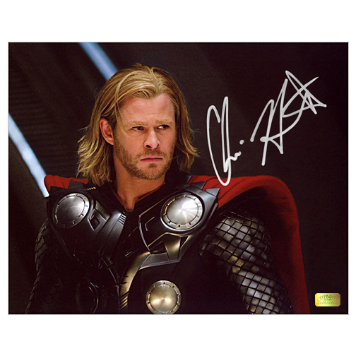 Chris Hemsworth Autographed 8?10 Thor Movie Scene Photo