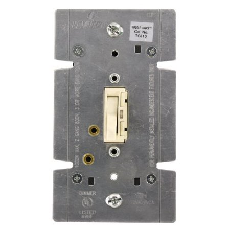 1000w Slide 3 Way Dimmer - Leviton Light Almond Lighted Toggle TOUCH Dimmer Switch 1000W Single-Pole 3-Way TGI10-1LA