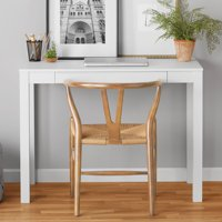 Mainstays Parsons Writing Desk with Storage Drawer (White)