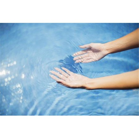 Hands in a Pool - Island of Hawaii United States of America Poster Print by Judi Angel, 38 x 24 - Large - image 1 of 1