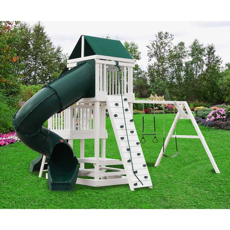 A&L Deluxe Playset Wooden Swing Set