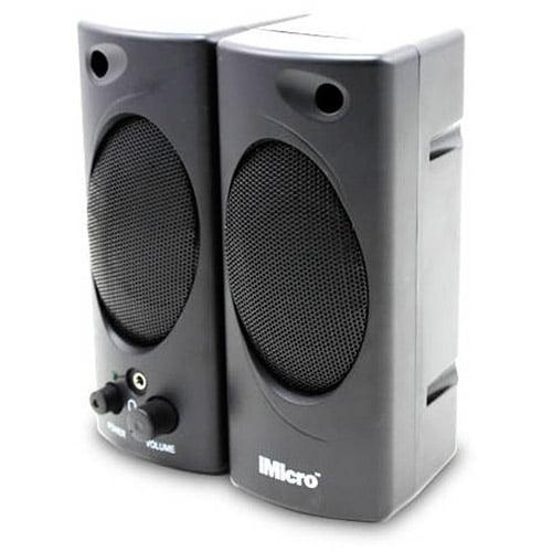 iMicro 2-Channel Plastic Multimedia Speaker System, Black