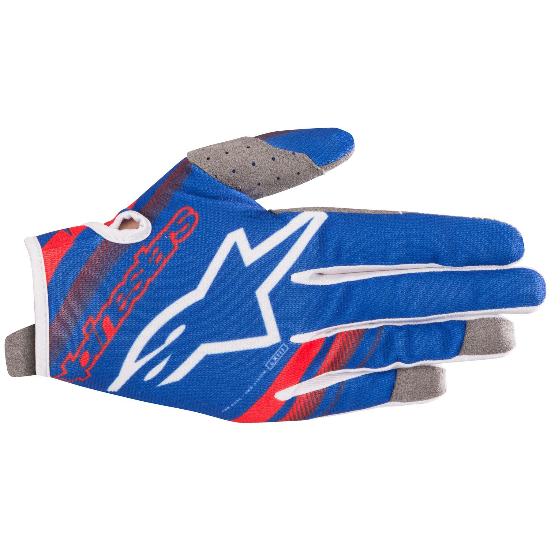 Alpinestars Radar S9 MX Offroad Gloves Blue/Red/White