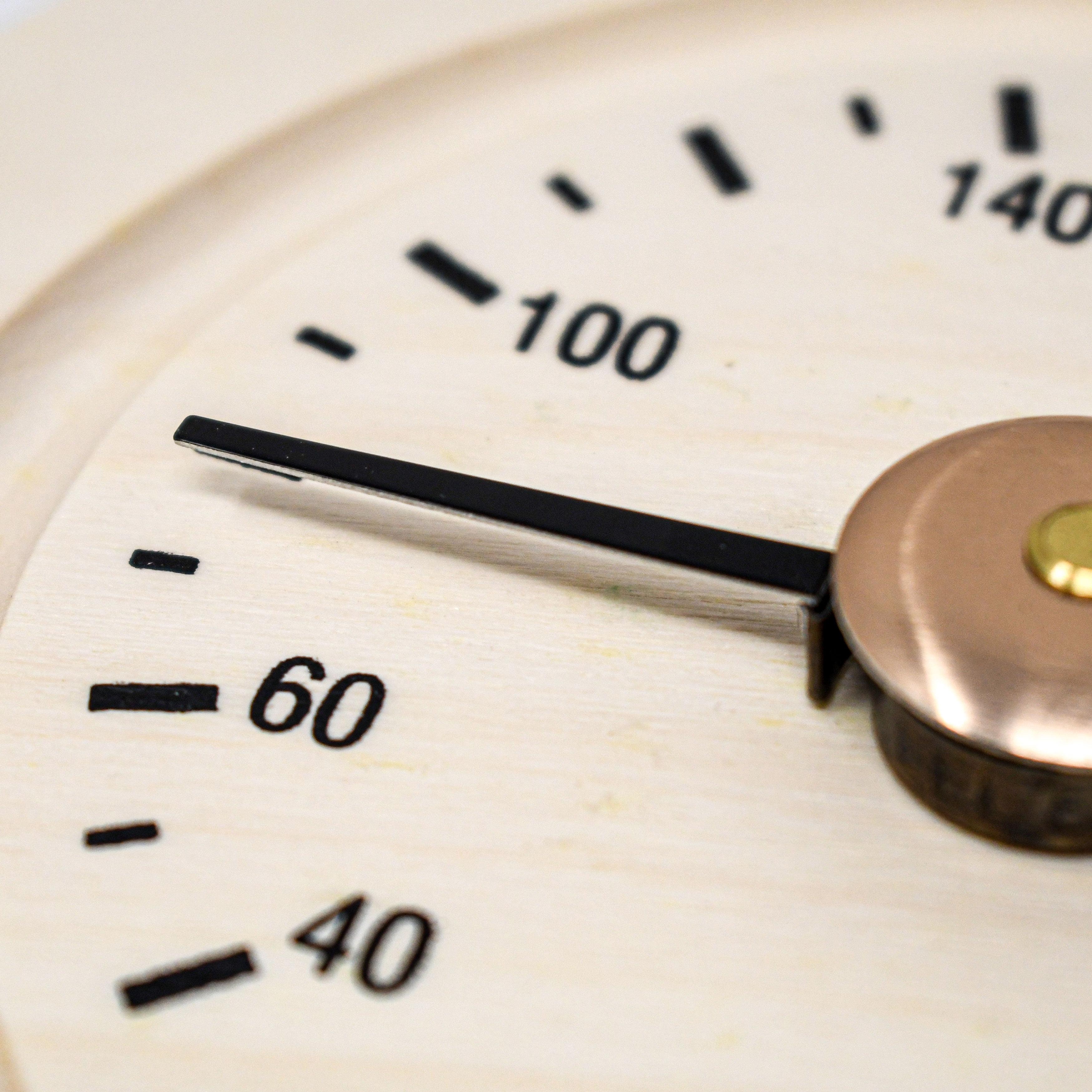 Aleko Wj02 Round Pine Wood Sauna Thermometer Gage In Fahrenheit Walmart Com Walmart Com