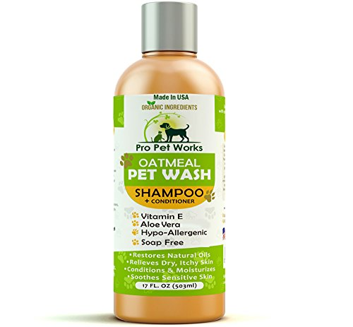 Pro Pet Works Hypoallergenic Organic Oatmeal and Aloe Cat...