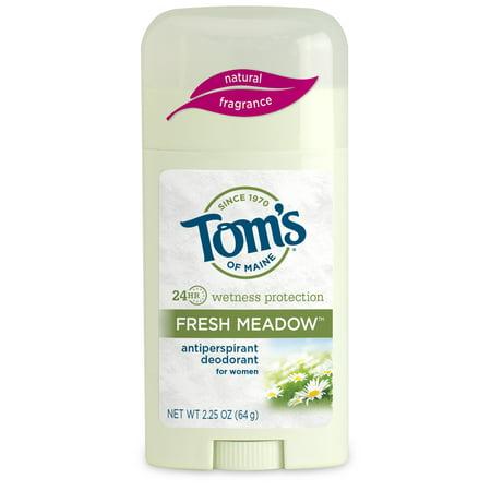 Tom's of Maine Antiperspirant Deodorant, Fresh Meadow, 2.25 Oz (Alcohol Free Anti Perspirant)