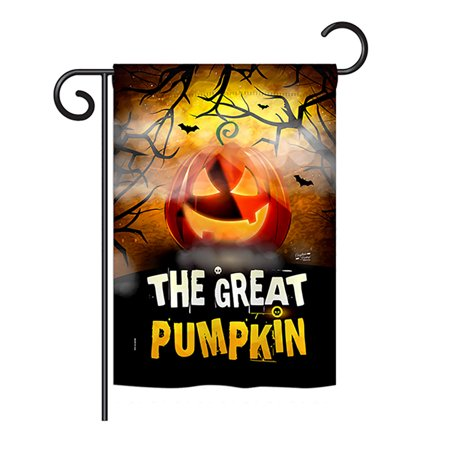 Halloween Usa Flag (Angeleno Heritage G135085-BO The Great Pumpkin Fall Halloween Impressions Decorative Vertical 13