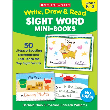 (2 Ea) Write Draw & Read Mini Books Sight Word (Draw Something Halloween Words)
