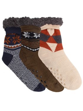2a3302e3f Product Image Winter-Weight Thermal Fleece-Lined Cozy Christmas Holiday  Sherpa Lined Slipper Socks
