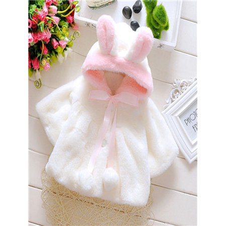 Baby Infant Girls Fur Winter Warm Coat Cloak Jacket Thick Warm - Winter Clothes Girls