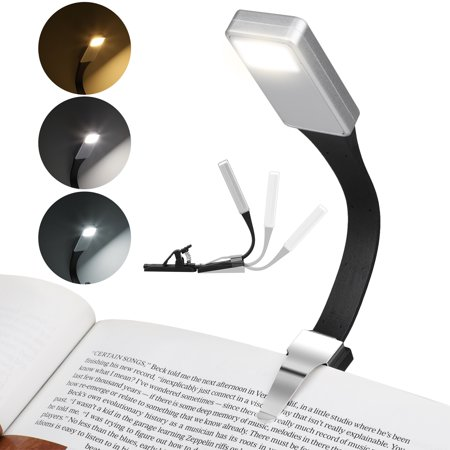 LED Clip on Book Reading Light, USB Rechargeable Magnet Clip Book Lamp 3-Level Brightness Eye Care Reading Lamp for Books and Kindles, Up to 3 Hours Reading, Lightweight, Perfect for Bookworms,