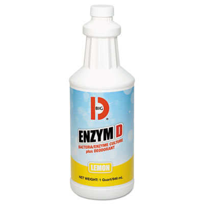 Big D Industries 500 Enzym D Digester Liquid Deodorant, Lemon, 32oz, 12/carton