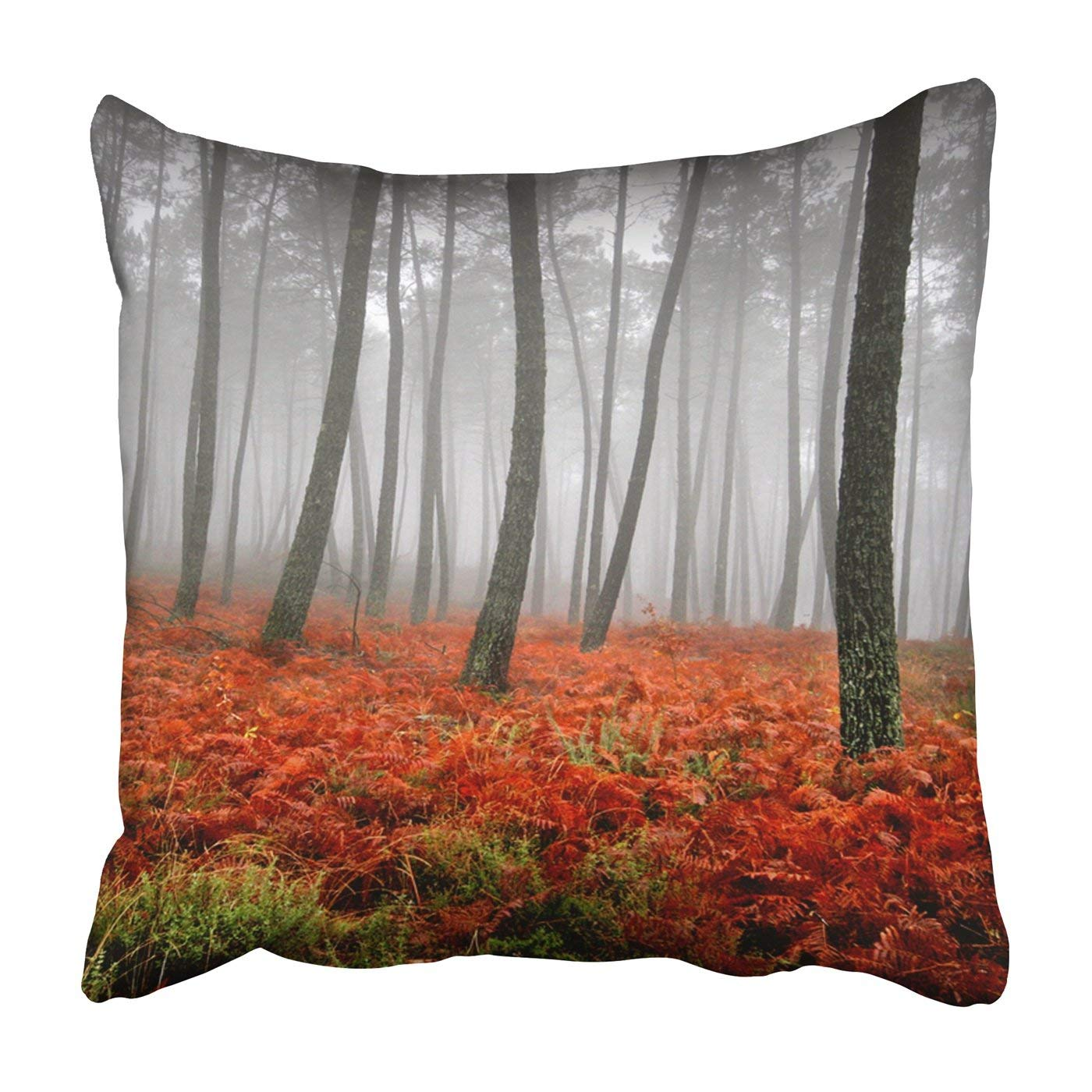 WOPOP beautiful light in a green and beautiful forest Pillowcase Throw Pillow Cover Case 16x16 inches