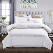 Superior Moonlawn Premium Cotton Embroidered Duvet Cover Set