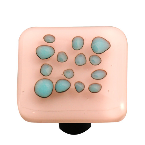Aquila Art Glass Reactive Square Knob