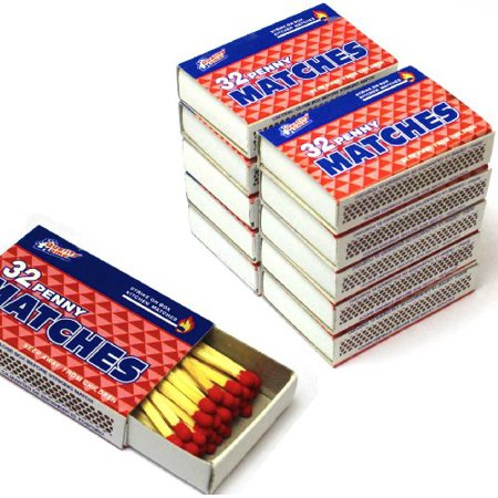 100 Packs Matches 32 Count Strike on Box Kitchen Camping Fire Wholesale Lot