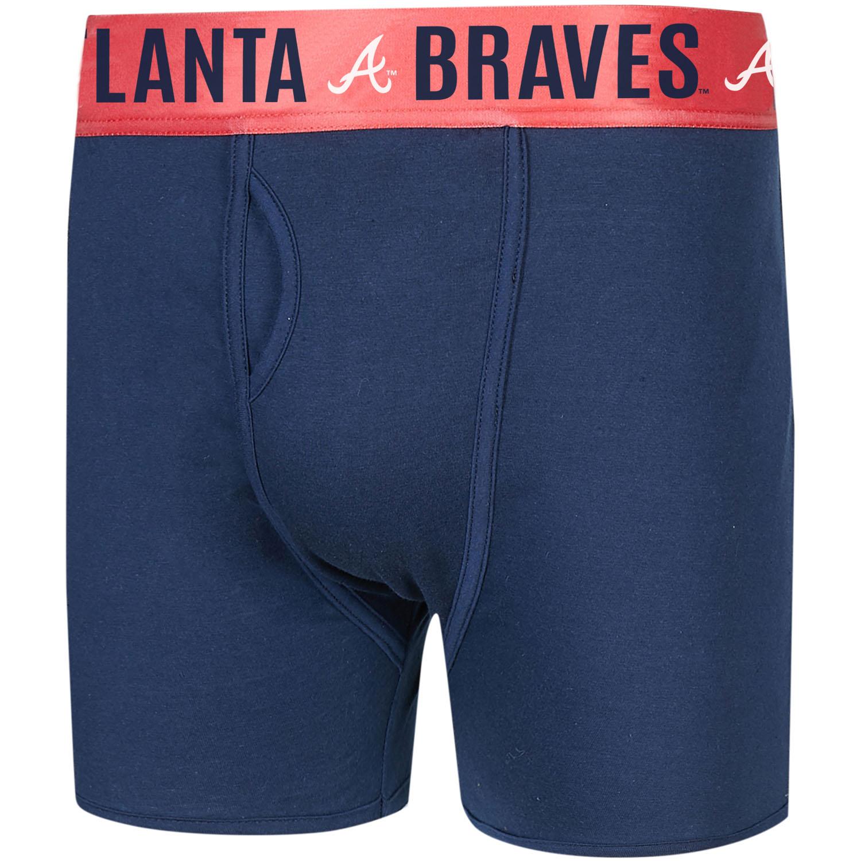 Atlanta Braves Concepts Sport Boxer Briefs - Navy/Red