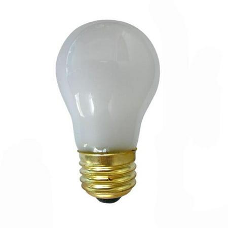 SUNLITE 02040 40w A15 120v Medium Base Frost Appliance Light Bulb