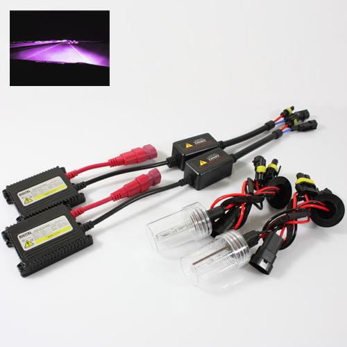 ModifyStreet® 9006/HB4 35W Hi-Power Slim DC Ballast Xenon HID Conversion Kit - 12000K Violet Pink