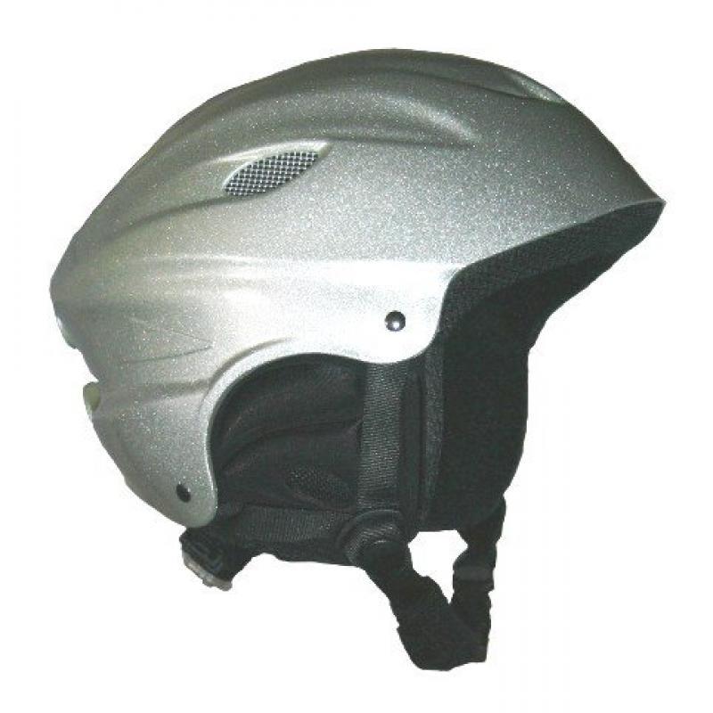 "ProRider Snow Sport Helmet Silver Large Includes Bonus ""Number 1 in Service"" Logo Reflector Sticker by"