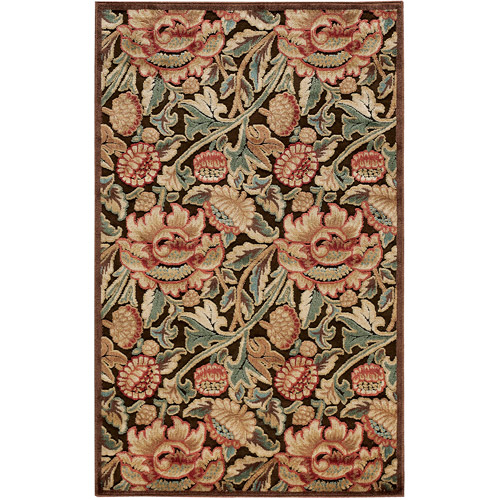 Nourison Graphic Illusions Polyacrylic Classic Flowers Rug
