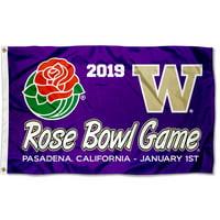 University of Washington Huskies 2019 Rose Bowl Game Flag